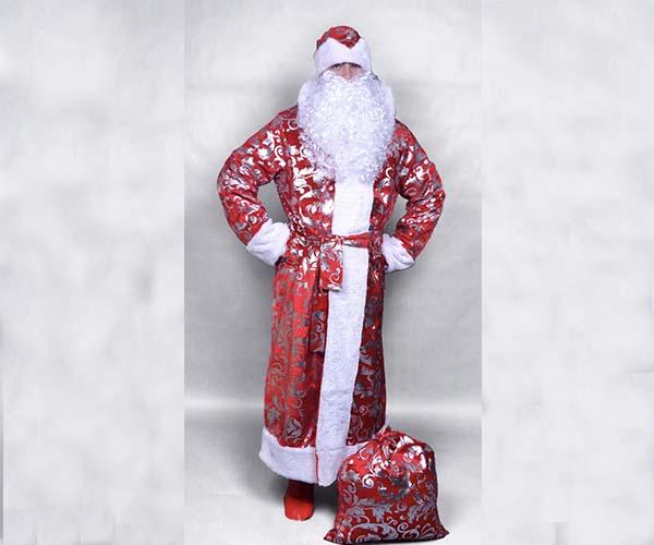 Мешок для подарков в один тон с костюмом.